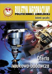Biuletyn informacyjny Politechniki Lubelskiej 1(9)/2003 : dodatek specjalny : Oferta naukowo-badawcza