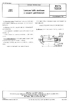 Lotnicze kołki stożkowe z czopem gwintowanym BN-76/1125-01
