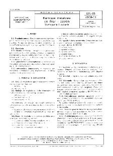 Karnisze metalowe do firan i zasłon - Wymagania i badania BN-85/4969-01