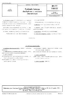 Podkładki lotnicze dwułapkowe z noskiem zewnętrznym BN-77/1118-03
