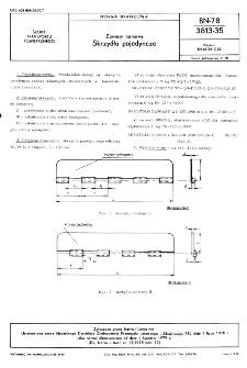 Zawiasy taśmowe - Skrzydła pojedyncze BN-78/3813-35