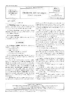 Obrabiarki elektroerozyjne - Podział i oznaczania BN-73/1500-02