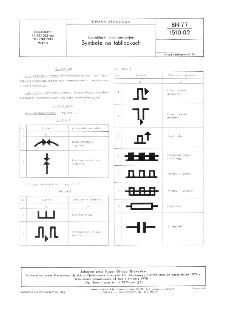 Obrabiarki elektroerozyjne - Symbole na tabliczkach BN-77/1510-02