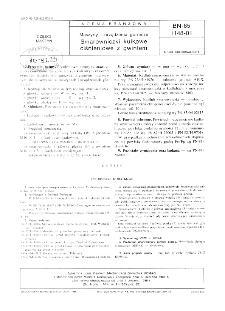 Maszyny i urządzenia górnicze - Smarowniczki kulkowe ciśnieniowe z gwintem BN-85/1148-01