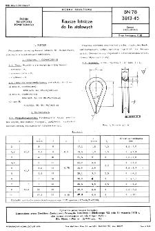 Kausze lotnicze do lin stalowych BN-78/3813-45