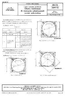 Lotnicze przyrządy pokładowe - Otwory montażowe do osadzania cylindrycznych puszek wskaźników BN-78/3891-13