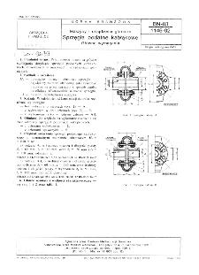 Maszyny i urządzenia górnicze - Sprzęgła podatne kabłąkowe - Główne wymagania BN-83/1146-02