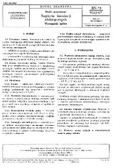 Statki powietrzne - Napięcia instalacji elektrycznych - Wymagania ogólne BN-78/9362-07