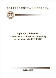 Sprawozdanie z działalności Politechniki Lubelskiej za rok akademicki 2014/2015