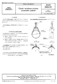 Opaski zaciskowe śrubowe przewodów giętkich BN-81/3886-02