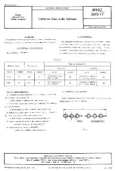 Lotnicze łańcuszki stalowe BN-82/3813-77