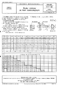 Śruby lotnicze ze łbem sześciokątnym BN-83/1111-02