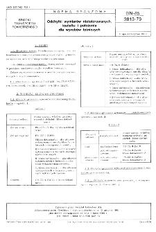 Odchyłki wymiarów nietolerowanych kształtu i położenia dla wyrobów lotniczych BN-85/3813-79