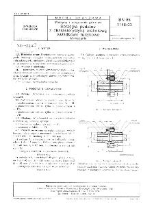 Maszyny i urządzenia górnicze - Sprzęgła podatne z charakterystyką nieliniową wkładkowe tulejkowe - Wymagania BN-85/1146-03