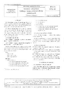Górnictwo odkrywkowe - Człony trasy przenośników taśmowych - Główne wymiary BN-73/1726-11