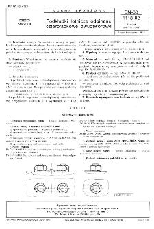 Podkładki lotnicze odginane czterołapkowe dwuotworowe BN-88/1118-02