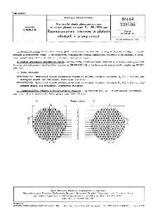 Wymienniki ciepła płaszczowo-rurowe ze stałymi płytami sitowymi Dz=159÷508 mm - Rozmieszczenie otworów w płytach sitowych i przegrodach BN-69/2251-06