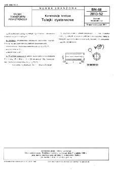 Konstrukcje lotnicze - Tulejki dystansowe BN-88/3813-52