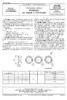 Konstrukcje lotnicze - Podkładki do tulejek z kołnierzem BN-88/3813-53