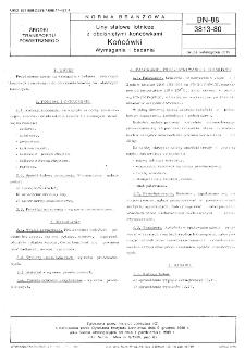 Liny stalowe lotnicze z obciśniętymi końcówkami - Końcówki - Wymagania i badania BN-88/3813-80