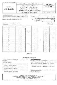 Liny stalowe lotnicze z obciśniętymi końcówkami - Końcówki oczkowe, widełkowe i gwintowane - Wymiary po obciśnięciu BN-88/3813-88