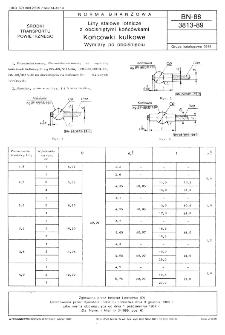 Liny stalowe lotnicze z obciśniętymi końcówkami - Końcówki kulkowe - Wymiary po obciśnięciu BN-88/3813-89