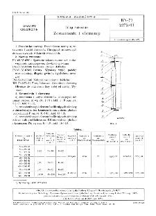 Filtry świecowe - Zestawienie i elementy BN-73/2272-03