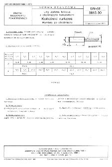 Liny stalowe lotnicze z obciśniętymi końcówkami - Końcówki rurkowe - Wymiary po obciśnięciu BN-88/3813-90
