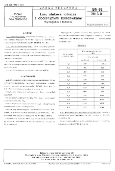 Liny stalowe lotnicze z obciśniętymi końcówkami - Wymagania i badania BN-88/3813-91