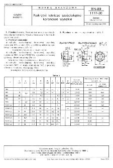 Nakrętki lotnicze sześciokątne koronowe wysokie BN-89/1117-20