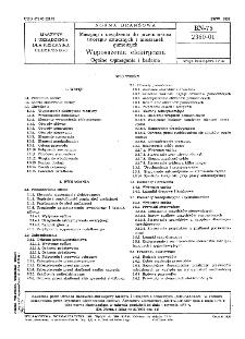Maszyny i urządzenia do przetwórstwa tworzyw sztucznych i mieszanek gumowych - Wyposażenie elektryczne - Ogólne wymagania i badania BN-75/2360-01