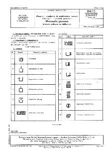 Maszyny i urządzenia do przetwórstwa tworzyw sztucznych i mieszanek gumowych - Mieszarki pionowe - Symbole graficzne na tabliczkach BN-75/2360-02 Arkusz 05
