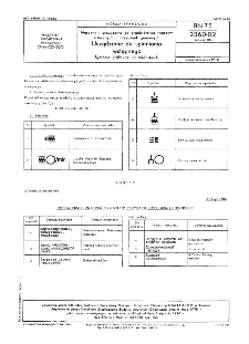 Maszyny i urządzenia do przetwórstwa tworzyw sztucznych i mieszanek gumowych - Urządzenia do spieniania wstępnego - Symbole graficzne na tabliczkach BN-75/2360-02 Arkusz 06