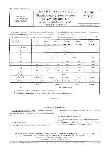 Głowice jednostrumieniowe do wytłaczania rur z poli(chlorku winylu) - Główne wymiary BN-86/2362-01