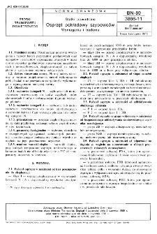 Statki powietrzne - Osprzęt pokładowy szybowców - Wymagania i badania BN-89/3886-11