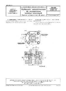 Wytłaczarki jednoślimakowe do przetwórstwa tworzyw sztucznych - Wymiary przyłączeniowe dla głowic BN-85/2364-13