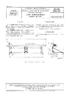 Maszyny i urządzenia do przetwórstwa tworzyw sztucznych - Linie wytłaczarkowe - Układarki do profili BN-88/2364-15