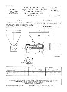 Maszyny i urządzenia do przetwórstwa tworzyw sztucznych - Linie wytłaczarkowe - Dozowniki poziome BN-88/2364-16