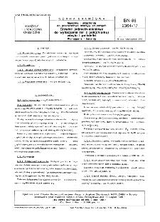 Maszyny i urządzenia do przetwórstwa tworzyw sztucznych - Głowice jednostrumieniowe do wytłaczania rur z poli(chlorku) winylu i poliolefin - Wymagania i badania BN-88/2364-17