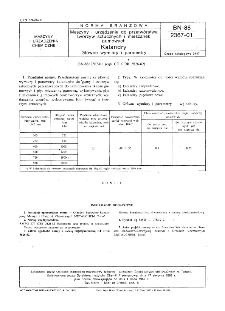 Maszyny i urządzenia do przetwórstwa tworzyw sztucznych i mieszanek gumowych - Kalandry - Główne wymiary i parametry BN-88/2367-01
