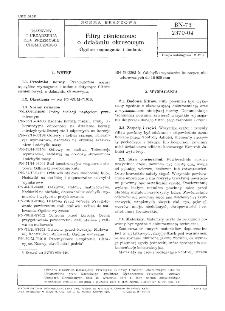 Filtry ciśnieniowe o działaniu okresowym - Ogólne wymagania i badania BN-73/2370-04