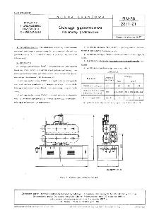Odciągi gąsiennicowe - Parametry podstawowe BN-86/2371-21