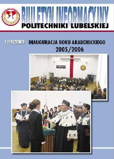 Biuletyn informacyjny Politechniki Lubelskiej 1(15)/2006 : inauguracja roku akademickiego 2005/2007