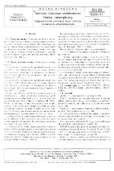 Samoloty odrzutowe poddźwiękowe - Hałas zewnętrzny - Dopuszczalne poziomy oraz metody określania charakterystyki BN-89/9360-17
