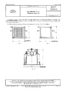 Prasy filtracyjne ramowe - Główne wymiary BN-75/2379-01