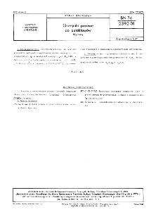 Wanny chłodzące - Główne wymiary BN-86/2391-01