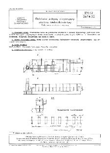 Defekator wstępny progresywny poziomy siedmiokomorowy - Podstawowe wielkości i wymiary BN-73/2674-02