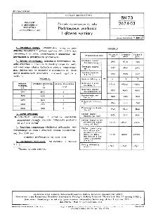 Zbiorniki wyrównawcze do soku - Podstawowe wielkości i główne wymiary BN-73/2674-03.