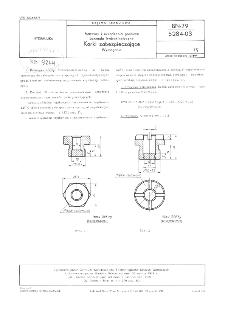 Maszyny i urzadzenia górnicze - Sprzęgła hydrokinetyczne - Korki zabezpieczające - Wymagania BN-79/5284-03