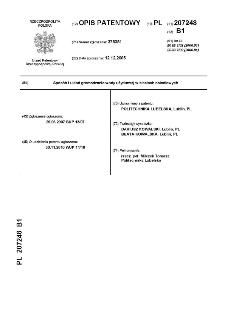 Sposób i układ gromadzenia wody użytkowej w sieciach osiedlowych : opis patentowy nr 207248